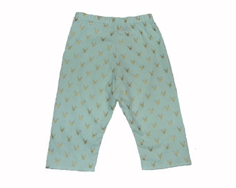 Deer Baby Clothes - Woodland Baby - Baby Blue Pants - Deer Antler - Gold Baby Pants - Baby Pants - Baby Boy Pants - Nb - 3m - 6m - 12m- 18m