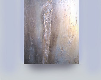 ABSTRACT PAINTING, Original abstract painting textured metallic modern fine art  contemporary art acrylic painting Carol Lee -Leearte