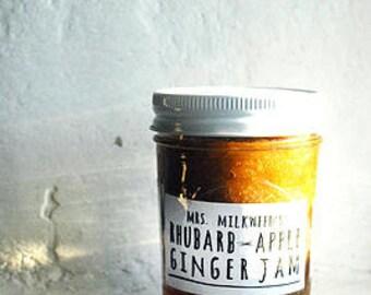Rhubarb Apple Ginger Jam