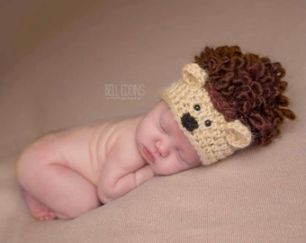 baby hedgehog hat // fall hat // newborn photo prop // woodland hat // boy // girl // fall photo prop // hedgehog newborn photo prop