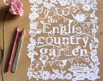 Template! English Country Garden Papercut