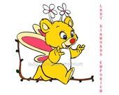 """361 Butterick 3498 Butterbear, Walt Disney's Wuzzles, 12"""" Teddy Bear with Wings Vintage 80's Stuffed Toy Sewing Pattern Uncut"""