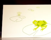 Frog And Lily Letterpress Note Card Set