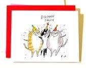 Funny Birthday Card - Birthday Squish - Birthday Card Cat