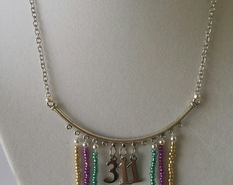 311 Day NOLA Cascading Bead Necklace