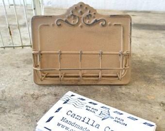 Card Holder, Metal Card Holder, Office Supplies, Business Supplies, Victorian Home Decor