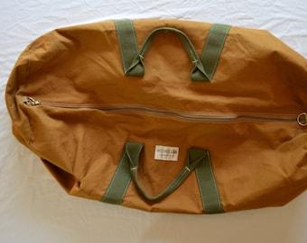 Vintage LAACKE & JOYS Wildwood giant canvas duck duffel bag 1960's 70's