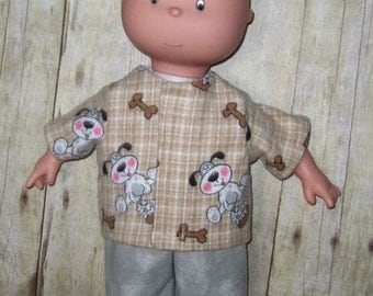 Caillou Classic 14.5 inch Doll Clothes Puppy Dog Pajama Set  Made In Usa   PBS  Sprout