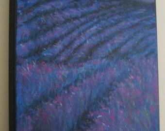 LAVENDER FIELDS watercolor