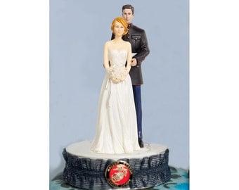 Marine Corps Wedding Cake Topper - 100820-30