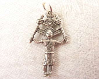 Vintage Sterling Tribal Chief or God Charm