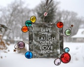 Whimsical Jewels Stained Glass Suncatcher Live Well