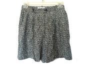 Black White Daisy Shorts 90s S