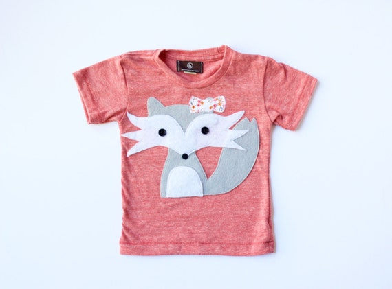 baby girl clothes FELICITY the SHY FOX fox t shirt baby