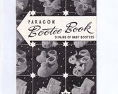 Vintage Paragon Bootee Book Knitting Book Patterns 21 Pairs of Baby Booties