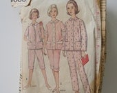 Simplicity 4006 Vintage 1960s Misses' Pajamas Pattern