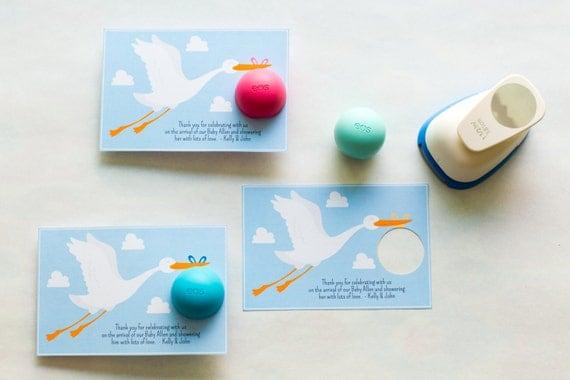 lip balm holder for baby shower favors stork baby shower stork lip