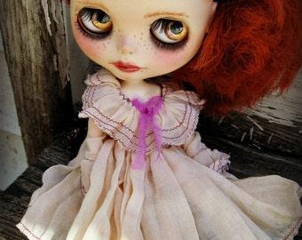 PATTERN Blythe Doll Designer Pattern/Tutorial PDF for Flounce Neckline Vintage-Styled Dress  by Cindy Sowers