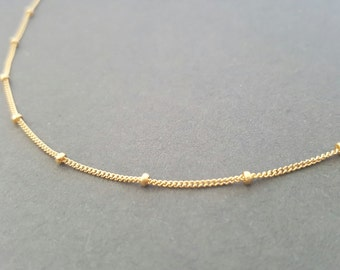 Gold Choker Necklace delicate satellite chain necklace gifts for women minimalist necklace