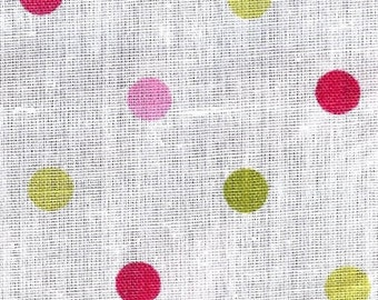 Multi-Colored Dot Fabric 60""