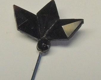 Antique Jet Stick Pin - Mid 1800's