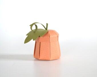Paper Pumpkin Box DIY Papercrafting Kit