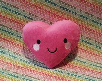 Soft Smiley Heart Plush