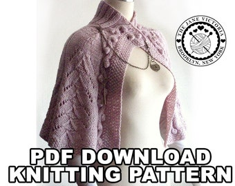 Capelet Knitting PATTERN, Arien of Dorthonion, PDF DOWNLOAD