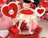 Vintage Inspired SuGaR SwEeT Valentine Spun Head Keepsake BE MINE VALENTINE Diorama