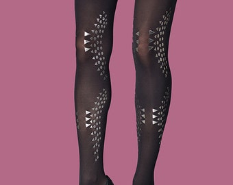 Printed tights, Courtney, available in S-M, L-XL, gift ideas