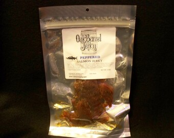 Peppered Salmon Jerky