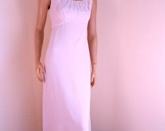 Emma Domb dress ,Pink rhinestone gown, bust 35, excellent condition, reduced