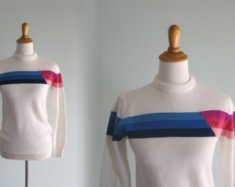 80s Ocean Pacific Sweater - Vintage Striped Op Sweater - Vintage 1980s Sweater S M