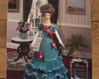 1994 crochet pattern Fashion Doll February DINNER GOWN