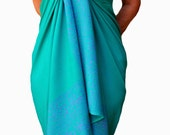 PLUS SIZE Womens Clothing Sarong Wrap Skirt or Dress Swimsuit Cover Up Sea Green Beach Sarong Batik Pareo Extra Long Plus Size Swimwear