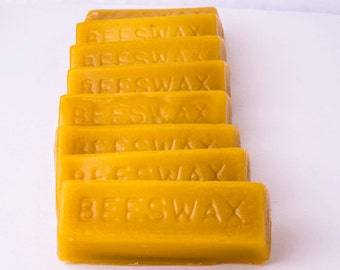 1oz. Beeswax Bars-12 bars  for Craft projects, Sewing,Fly-Fishing, woodworking