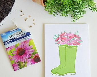 Be Ever Blooming, Rainboots, Bouquet, Seasonal Decor Spring, Illustration, Floral, Bloom where you are planted, Encourage, Easter Decoration
