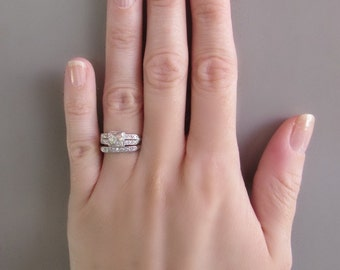 antique wedding and engagement ring