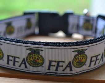 FFA dog collar & leash