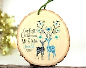 2016 Ornament - Our First Christmas as Mr and Mrs - Gifts for Newlyweds - Wedding Gift - Customized Christmas Ornament - XMAS004