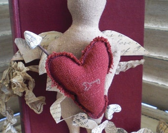 Cupid Mixed Media Doll