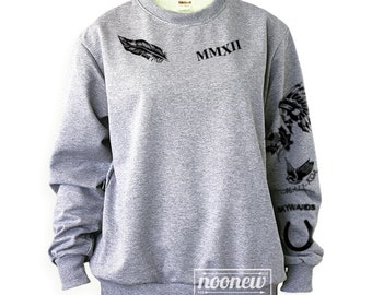 Calum Hood Tattoo Sweatshirt Sweater Crew Neck Shirt ADD Hood 96 – Size S M L XL