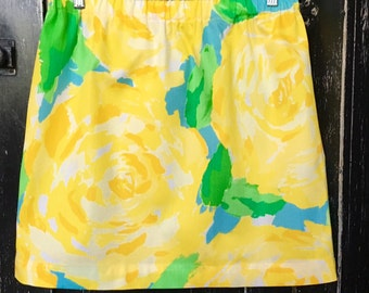 Lilly Pulitzer Sunglow Yellow First Impression Skirt