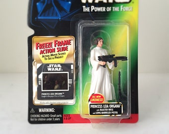 Vintage Star Wars Princess Leia Organa Carrie Fisher Action Figure, Rogue One, Force Awakens, A New Hope - 90's Kenner Vintage Star Wars Toy
