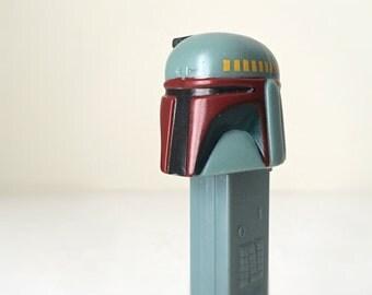 Vintage Star Wars Boba Fett PEZ Dispenser, Star Wars Gift for Kids with Unopened PEZ Candy, 90s Star Wars PEZ Dispenser, Bounty Hunter