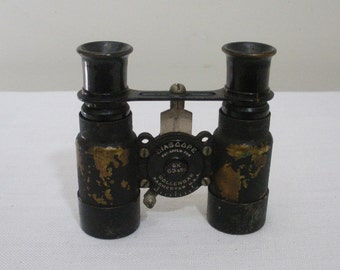 Antique Biascope Field Glasses Binoculars - Wollensak Rochester NY