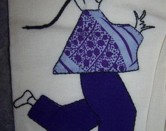 3 handmade vintage tea towels
