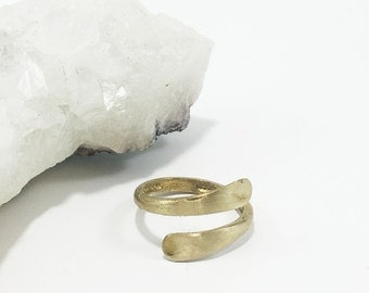 Adjustable Hammered Ring | Brass Ring