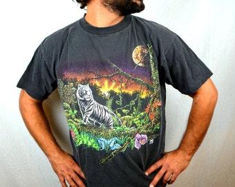 Vintage 90s 1993 Tiger Tee Shirt Tshirt - XL