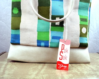 Vintage 1960s Pak Sak by Garay Beach Tote Bag - NWT